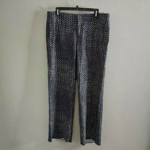 Peruvian Connection Chandra Patterned Pants Blue